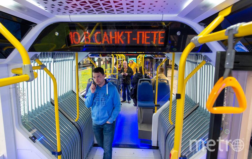 """В Петербурге представили инновационные автобусы. Фото Святослав Акимов., """"Metro"""""""