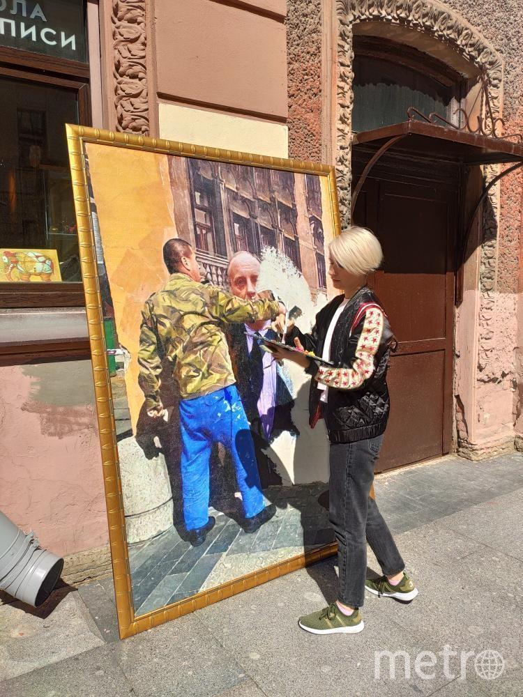 Перформанс российского художника-урбаниста Олега Лукьянова. Фото Скриншот Instagram: @urbanfresco, Предоставлено организаторами