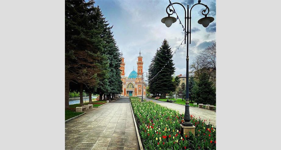 Суннитская мечеть является одним из символов города. Фото Скриншот Instagram @zaharcka