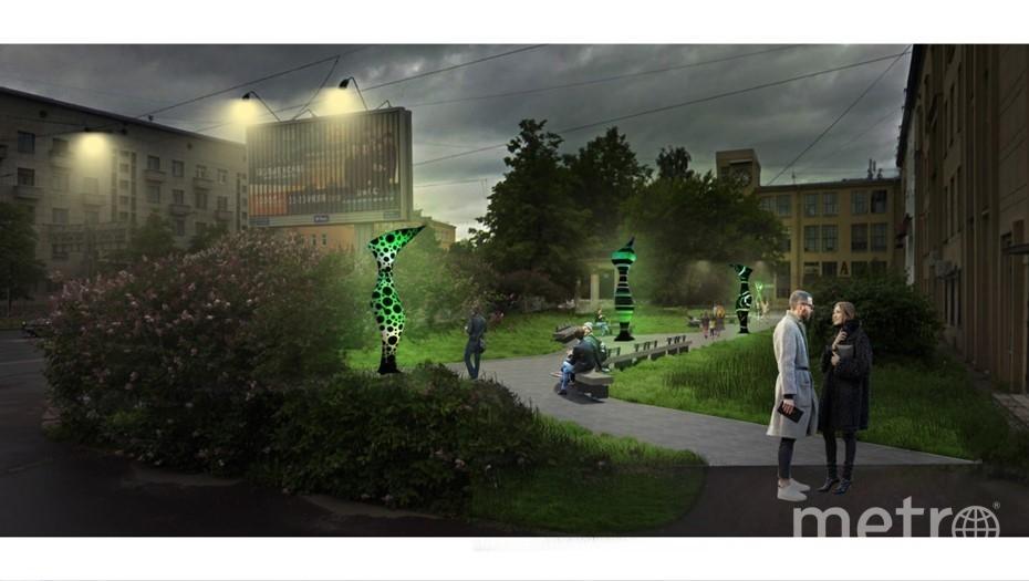 Как будет выглядеть новое общественное пространство. Фото gov.spb.ru.