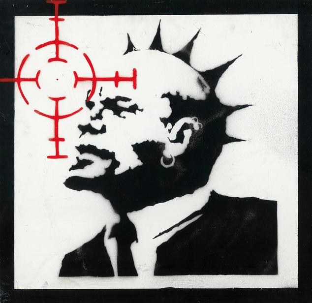 Ленин в образе панка, работа Бэнкси. Фото https://www.christies.com/