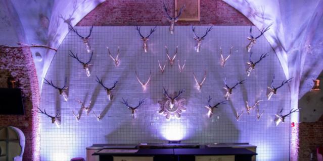 В одном из залов максимально раскрыта тема оленей.