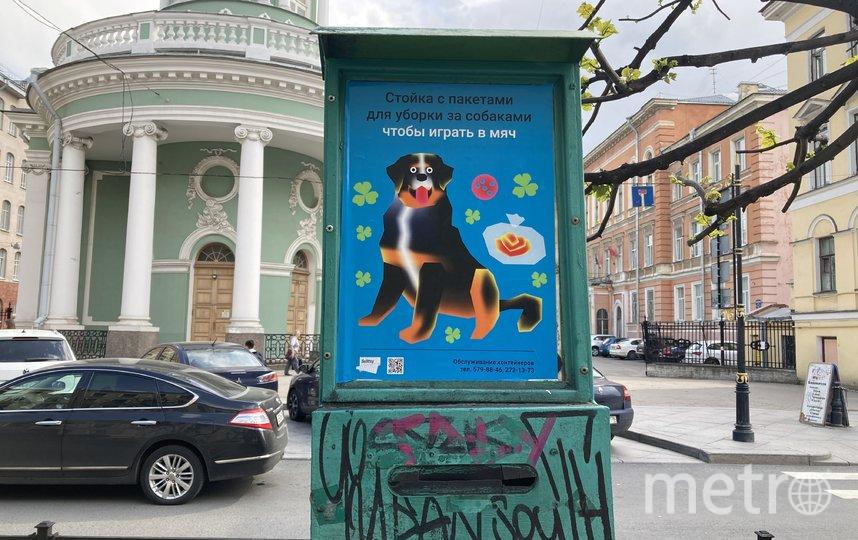 Стойки с дог-пакетами украсили стильными постерами. Фото Sulittsy