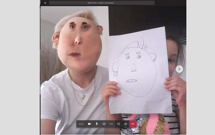 Девочка Миа, пока была на дистанционном обучении, нарисовала маму. Фото Instagram: @thingsihavedrawn