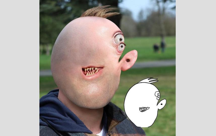 И это тоже Том Кёртис. Ещё один рисунок к хеллоуину от младшего сына. Фото Instagram: @thingsihavedrawn