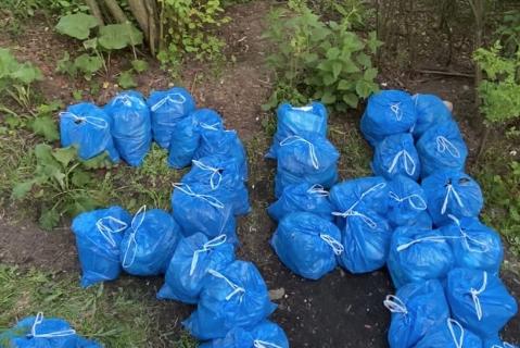 Войну с мусором горожанин ведет в разных районах Северной столицы.