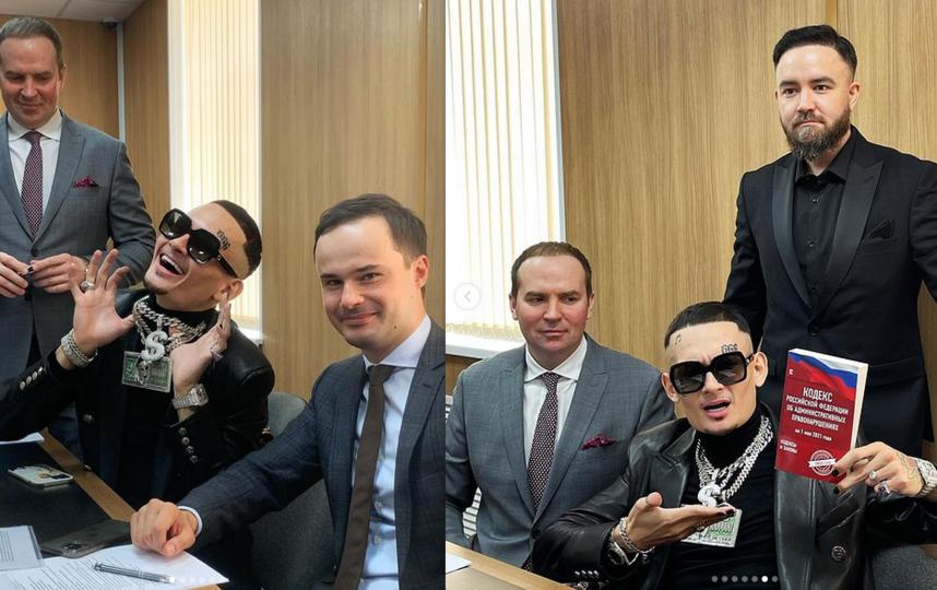 Моргенштерн в зале суда. Фото Скриншот Instagram @morgen_shtern