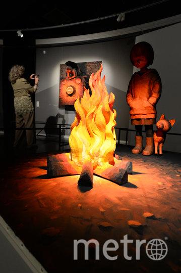 """В музее современного искусства открылась экспозиция известного японского художника, в работах которого сочетаются 2D- и 3D-объекты. Фото Святослав Акимов, """"Metro"""""""