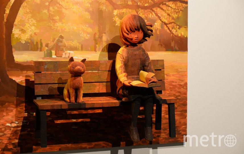 """Свои работы Охата, по его словам, создаёт из японской бумаги - васи. Фото Святослав Акимов, """"Metro"""""""