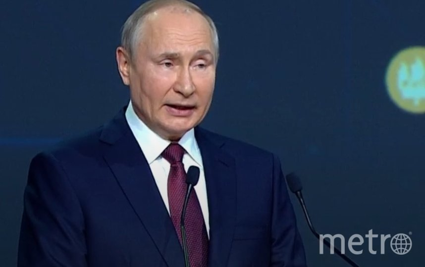 Владимир Путин. Фото скриншот видео.