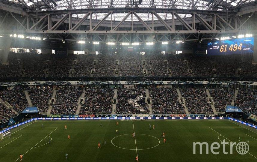 Петербург примет три матча групповой стадии и один из четвертьфиналов турнира. Фото twitter.com/gazprom_arena.