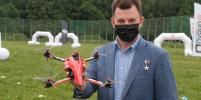 Роман Романенко запустил дрон с надписью
