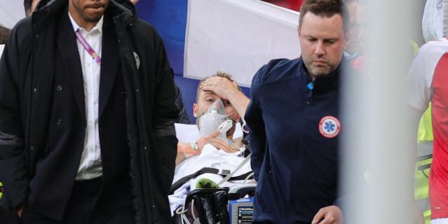 Кристиан Эриксен пришёл в сознание ещё на стадионе.