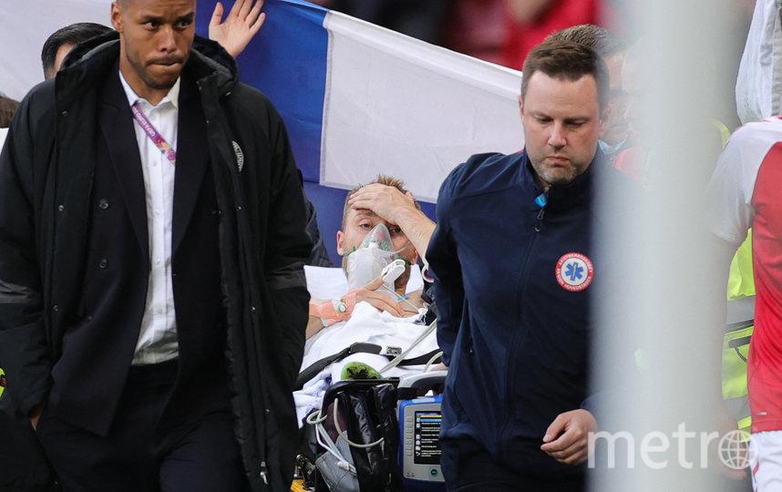 Кристиан Эриксен пришёл в сознание ещё на стадионе. Фото AFP