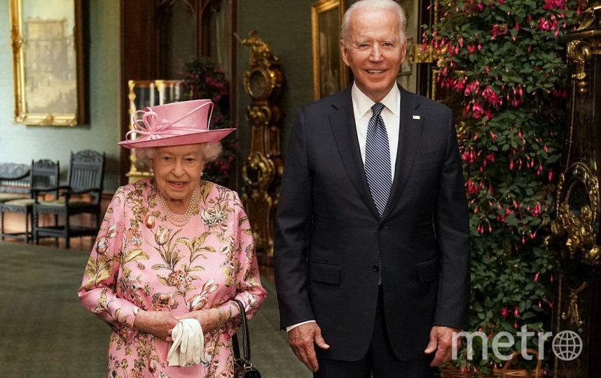 Президент США Джо Байден и королева Елизавета II. Фото Getty