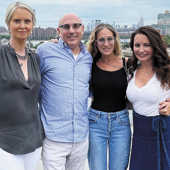 Синтия Никсон, Уилли Гарсон, Сара Джессика Паркер и Кристин Дэвис. Фото Скриншот Instagram @willie.garson
