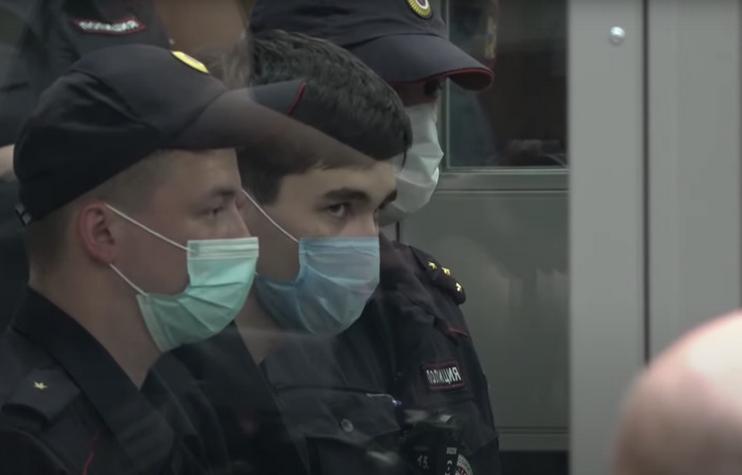 Ильназ Галявиев в зале суда. Фото Скриншот YouTube: https://www.youtube.com/watch?v=OOtmVvKFHSY