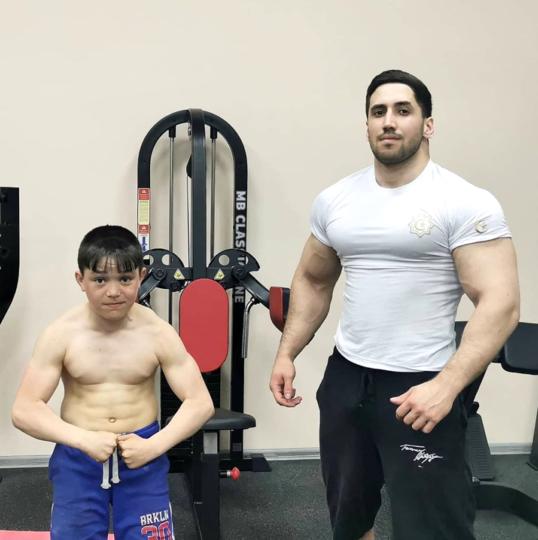 Амар и Ильман на тренировке. Фото Амар Асадов
