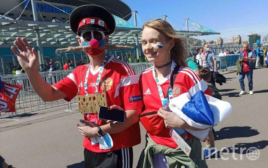 """Некоторые болельщики подготовились к матчу основательно. Фото Святослав Акимов, """"Metro"""""""