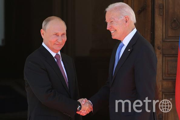 Путин и Байден встретились в Женеве. Фото Getty.