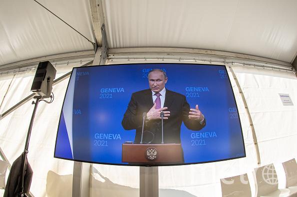 Путин провел пресс-конференцию по итогам переговоров с американским коллегой Джозефом Байденом в Женеве. Фото Getty.