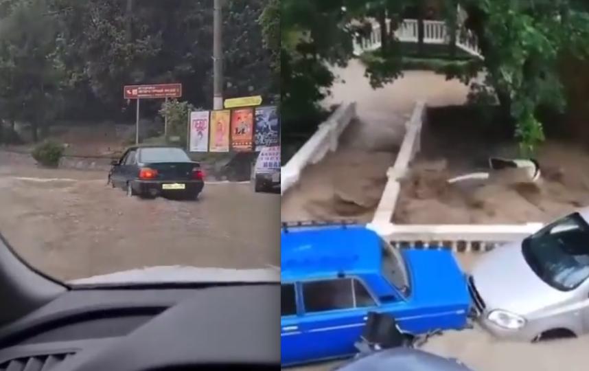 Наводнение в Ялте. Фото Скриншот Instagram