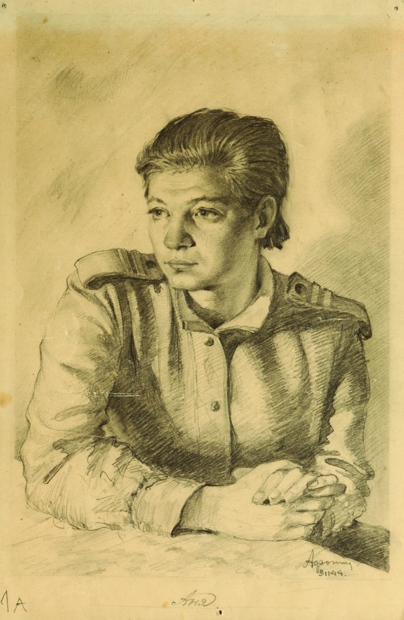 Портрет Аннушки. Эту работу Анна Шатик увидела через 60 лет после Победы.