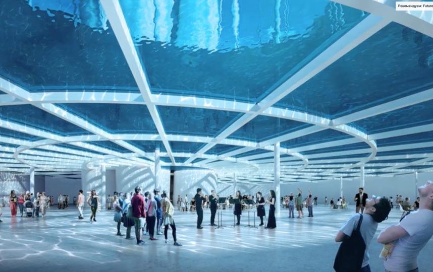 У смотровой площадки будет прозрачный потолок. Фото Скриншот You-Tube-канала Architect Clips., Скриншот Youtube