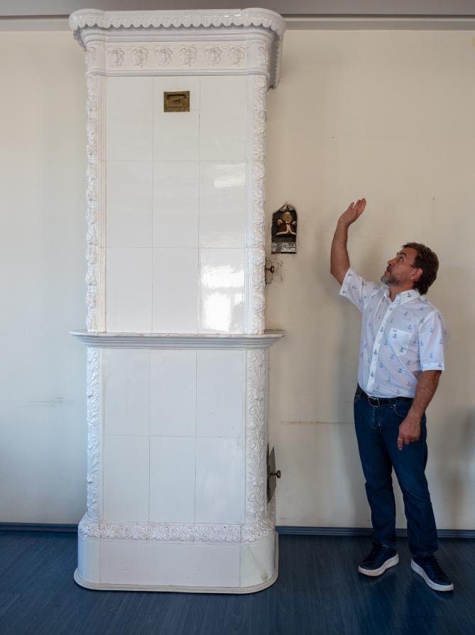 """Та самая печь из квартиры Айн Рэнд. Фото Святослав Акимов, """"Metro"""""""