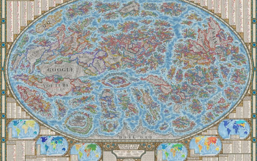 """""""Карта Интернета"""" не похожа на карту реального мира, но крайне точно отображает, что ищут пользователи всего мира в Сети. Фото Мартин Варгич"""