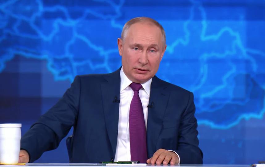 Владимир Путин. Фото Скриншот прямой трансляции