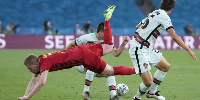 Кевин де Брюйне получил травму в матче против португальцев.