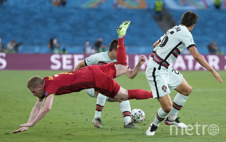 Кевин де Брюйне получил травму в матче против португальцев. Фото AFP