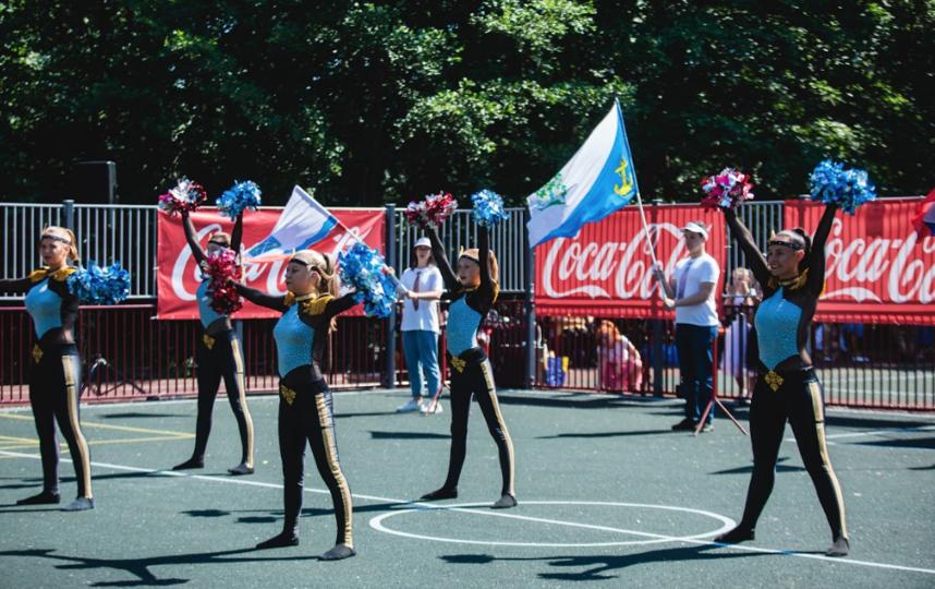 В Ленинградской области открыли инклюзивную детскую спортивную площадку