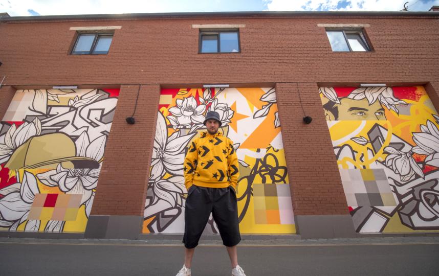 Реализованный Евгением экопроект City Forests с граффити, которые очищают воздух благодаря специальным краскам. Фото предоставлено пресс-службой