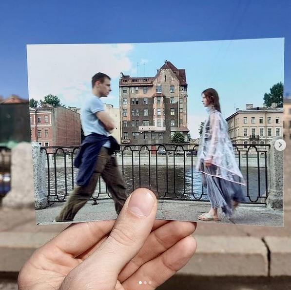 "Фильм ""Питер FM"". На фоне дома Капустина в Санкт-Петербурге. Фото Instagam: @aleksander.kostrov"