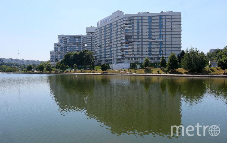 Проезжая по Балаклавскому проспекту Большой Чертановский пруд, посмотрите в сторону области – там высится 15-этажный бело-голубой дом, по форме с воздуха отдалённо напоминающий букву Ц. Фото Василий Кузьмичёнок