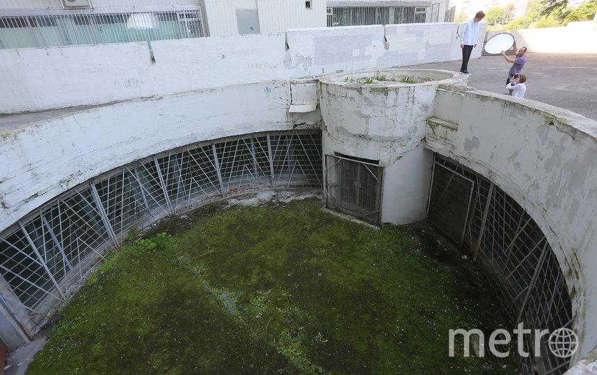 Этот огромный колодец – бывший эвакуационный выход из гаража. Раньше туда вела лестница с улицы. Но в колодце стали собираться местные алкаши, в результате лестницу демонтировали. Фото Василий Кузьмичёнок