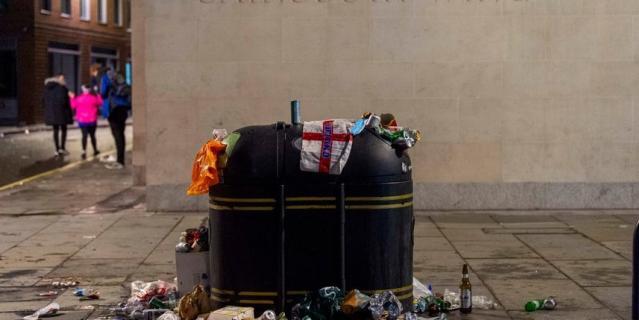 Лондон после финального матча ЕВРО-2020.