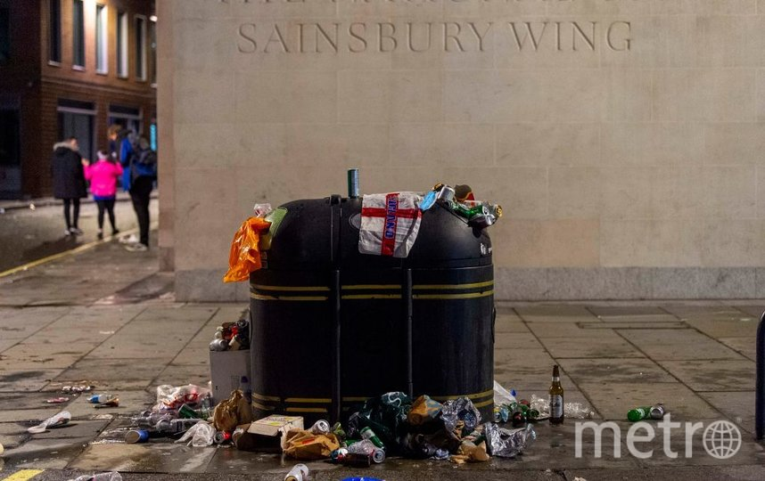 Лондон после финального матча ЕВРО-2020. Фото Getty