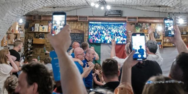Трансляция матча велась на итальянском языке.
