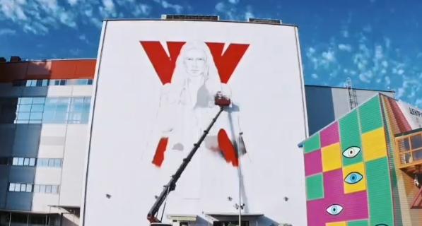 Художники работали на большой высоте.