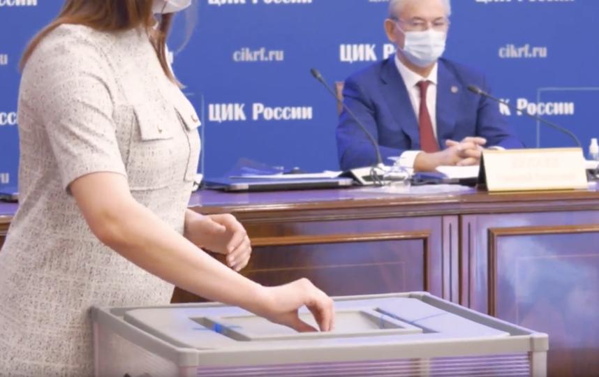 Скриншот с видео. Фото http://www.cikrf.ru/