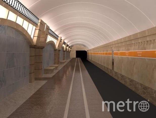 """Так будет выглядеть станция """"Горный институт"""". Фото https://vk.com/podzemkavpeterburge"""