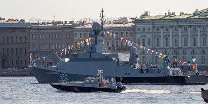 В Петербурге прошла репетиция Военно-морского парада ко дню ВМФ