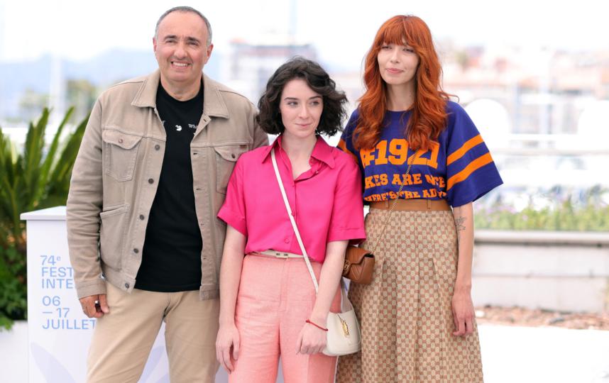 Кира Коваленко (справа) с коллегами по фильму. Фото Getty