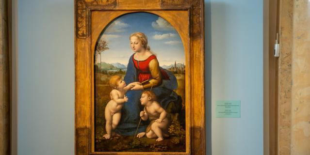 """""""Мадонна с младенцем и Иоанном Крестителем"""" Рафаэля Санти."""