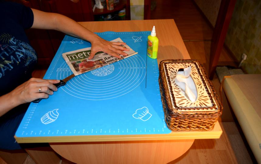 Буквы видно и после покраски, но, по словам Марины, это придаёт изделию шарм. Фото предоставлены Мариной Леоновой
