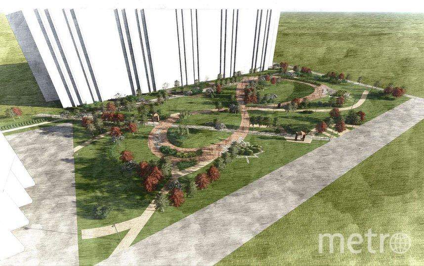 Визуализация нового сквера на Васильевском острове. Фото https://www.gov.spb.ru/press/governor/218530/