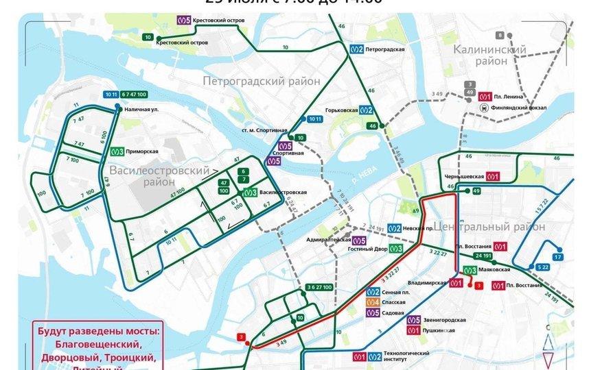 Ограничение движения в день ВМФ. Фото https://www.gov.spb.ru/gov/otrasl/c_transport/